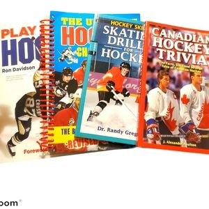 Children's books, hockey trivia, drills, skills